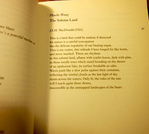 Seeing my poems in print and feeling like they could've used more work...